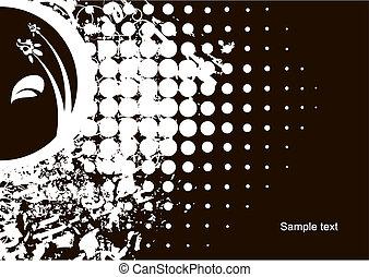 Grunge floral background - Editable modern vector grunge ...