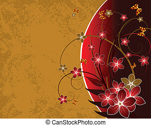 grunge floral background