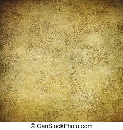 grunge floral background with space for text or image