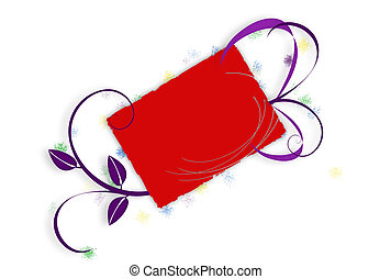 Grunge Floral Card