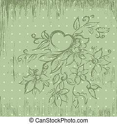 grunge floral doodle