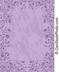 Grunge floral frame.
