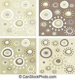 Grunge floral patterns