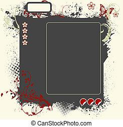grunge floral web layout