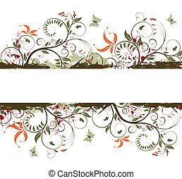 Grunge flower background - Grunge paint flower background ...