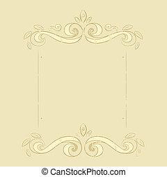 grunge flowers frame