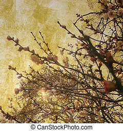 Grunge Flowers Poster