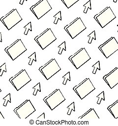 grunge folder file with arrow cursor background