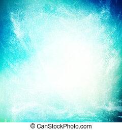 grunge, fond, bleu turquoise, beau, ciel, texture