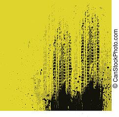 grunge, fond jaune