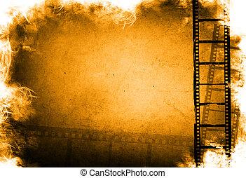 grunge, fondos, efecto, filme