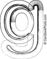 Grunge Font. Letter g