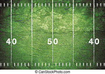 Grunge Football Field - Grunge football field with chalk...