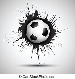 Grunge football or soccer ball background