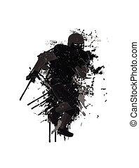 Grunge football player background