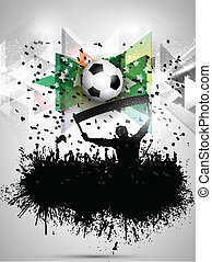 Grunge football / soccer crowd background