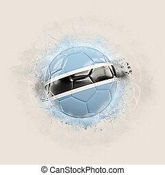 Grunge football with flag of botswana