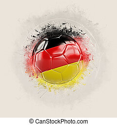 Grunge football with flag of germany