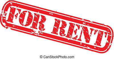 Grunge for rent rubber stamp, vector