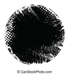 grunge, forma, bandiera, cerchio, rotondo