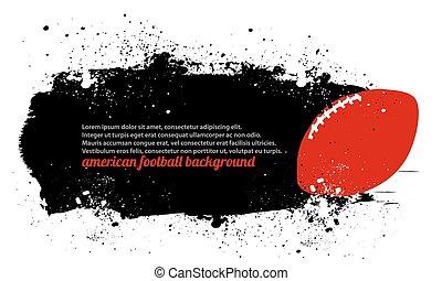 grunge, fotboll, affisch