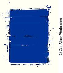 Grunge Frame - Blue