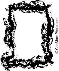 Grunge frame - Beauty salon frame logo for webpage or ad