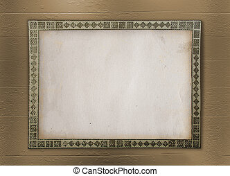 Grunge frame for album with photos on the wooden background