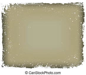 Grunge frame isolated. Vector