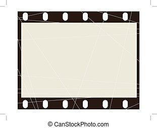 grunge frame of film
