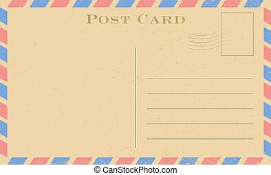 grunge, frame., postcard., carte postale, vendange, papier, vecteur, vieux, illustration.