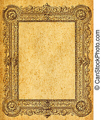 Grunge  frame - Retro grunge frame with browns and textures