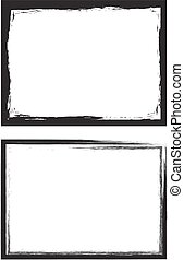 Grunge frame set. Vector template.