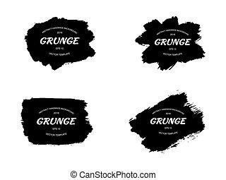 Grunge frame set. vector