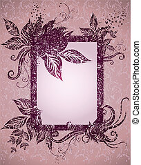 Grunge frame with Autumn Leafs
