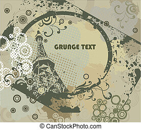 Grunge frame with urban elements