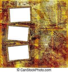 Grunge frames for album the newspaper background