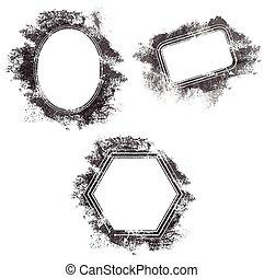 Grunge, Frames  Vector image