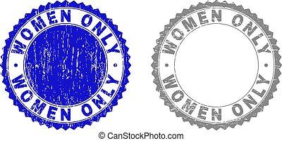 grunge, francobollo, sigilli, soltanto, textured, donne