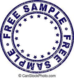 grunge, francobollo, sigillo, libero, campione, textured, ...