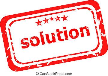 grunge, francobollo, soluzione, gomma, fondo, bianco