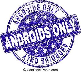 grunge, francobollo, textured, androids, soltanto, sigillo