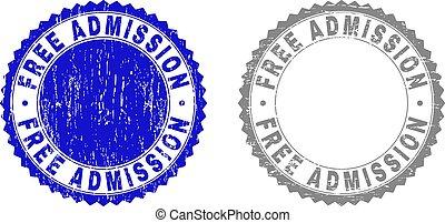 Grunge FREE ADMISSION Textured Stamp Seals
