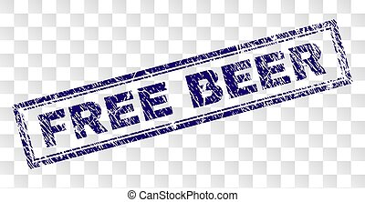 Grunge FREE BEER Rectangle Stamp