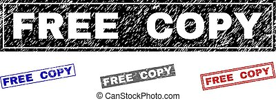 Grunge FREE COPY Textured Rectangle Stamps