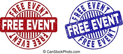 Grunge FREE EVENT Textured Round Watermarks