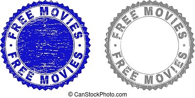 Grunge FREE MOVIES Textured Watermarks