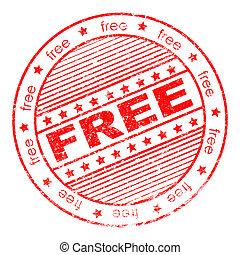 Grunge free rubber stamp