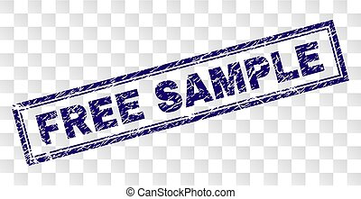 Grunge FREE SAMPLE Rectangle Stamp