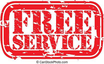 Grunge free service rubber stamp, v